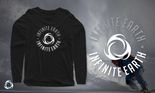 Perfect Circle Black Organic Cotton Long Sleeve T-shirt Banner LS002-blk