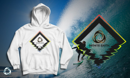 Diamond Head: White Fleece Hoodie Banner