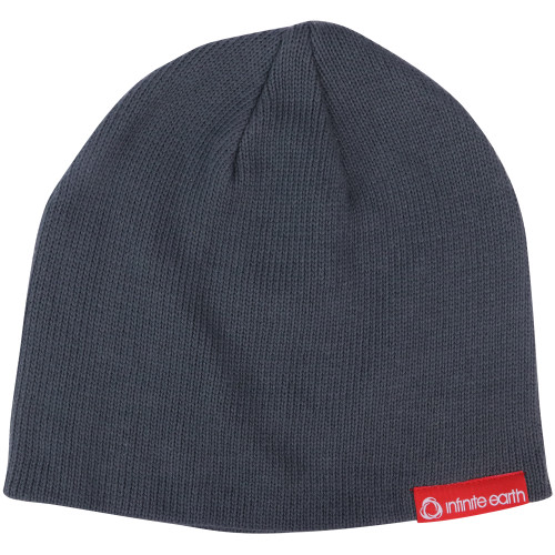Infinite Earth Charcoal Organic Cotton Beanie Side View
