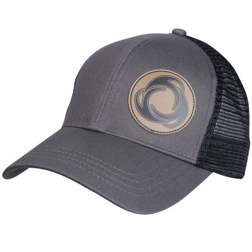 Right View Perfect Circle - Eco Trucker Hat CHR/BLK