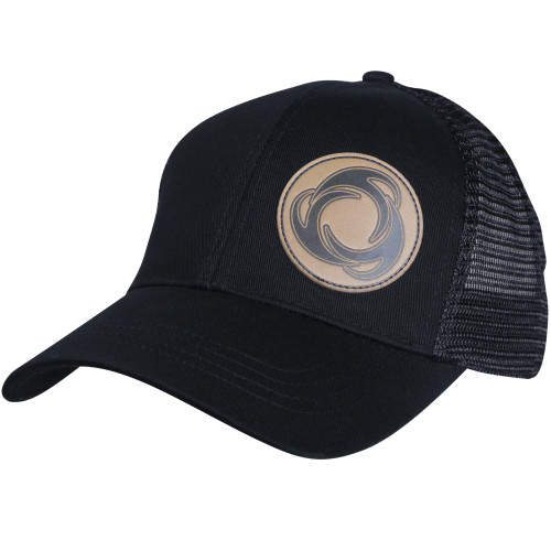 Right Incline View Perfect Circle - Eco Trucker Hat BLK/BLK
