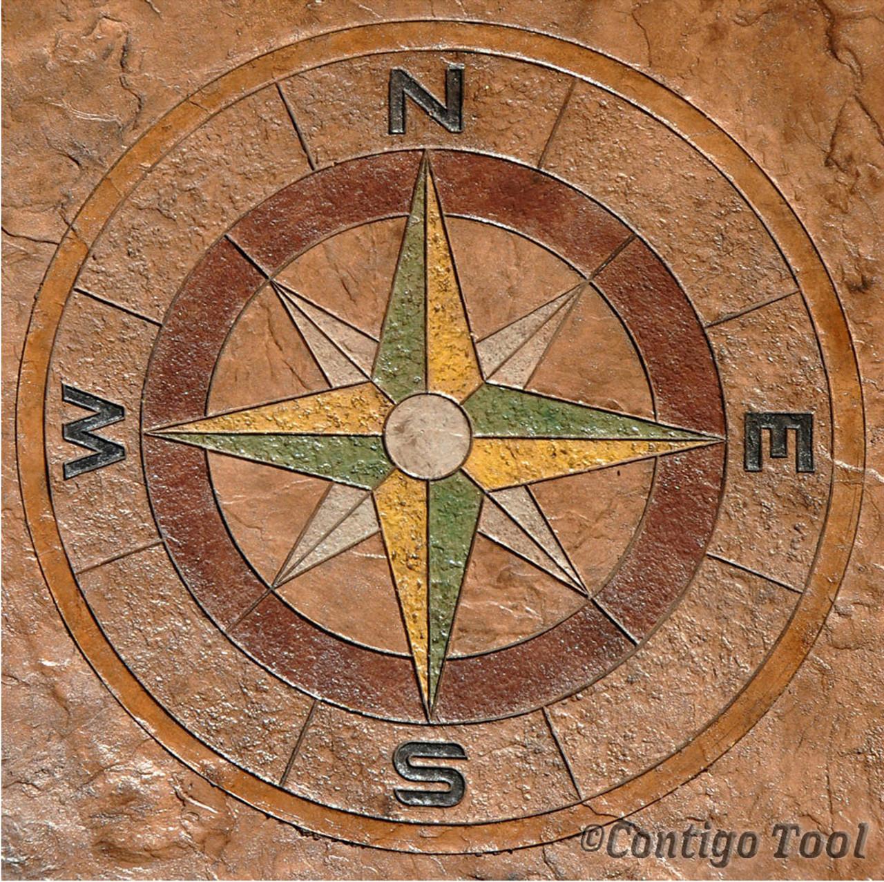 Compass rose medallion 48