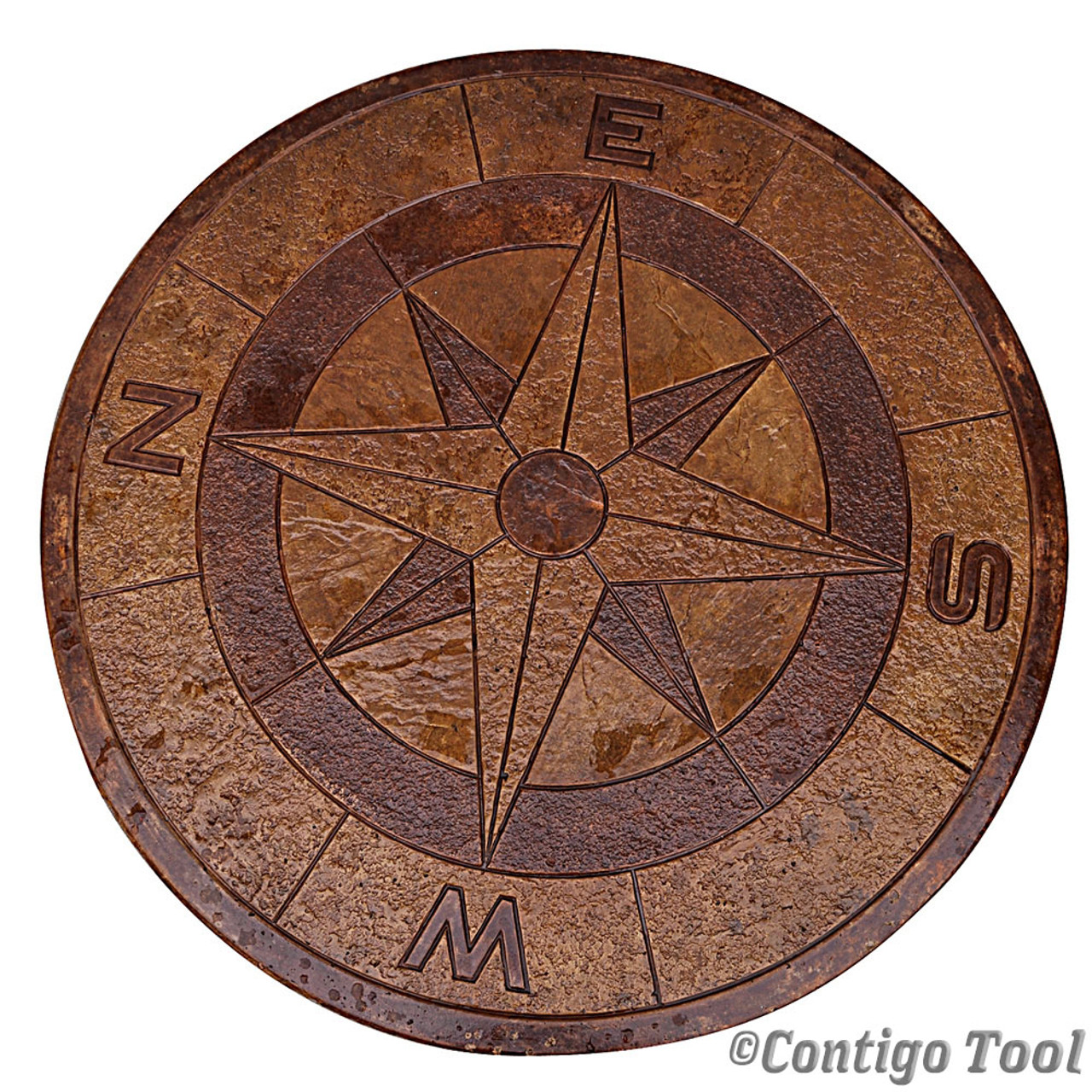 Compass rose table top mold 48