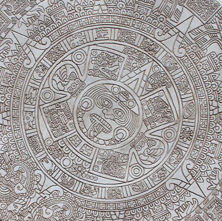 """Aztec Calendar Medallion 48"""" x 48"""""""