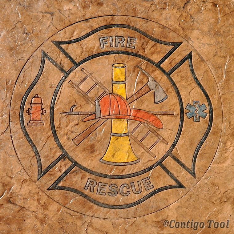 "Fire Rescue Medallion 48"" x 48"""