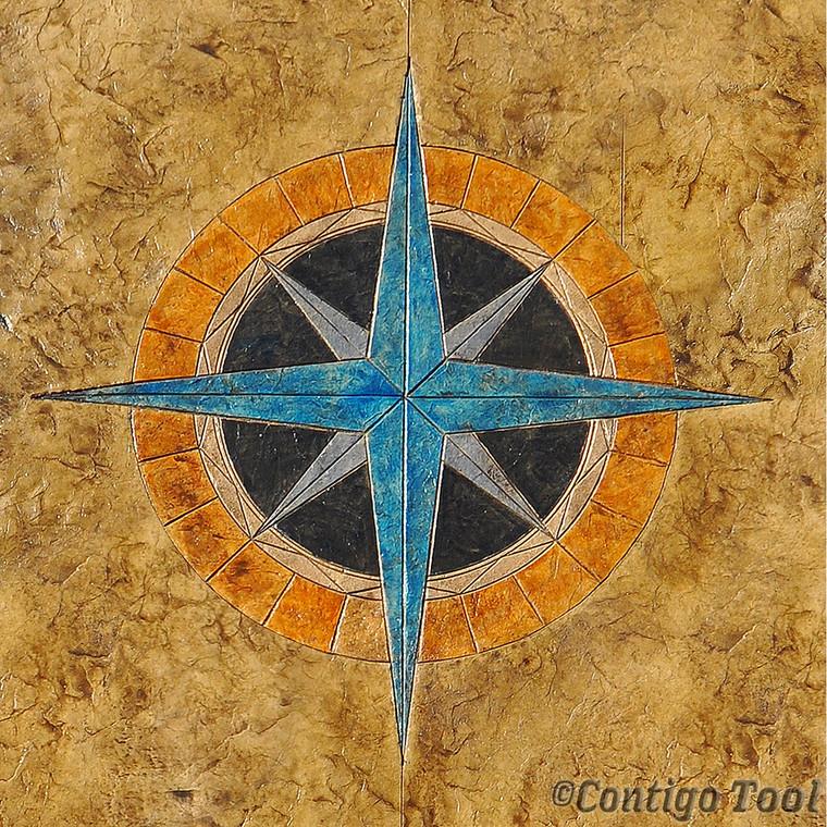 Old World Compass Medallion 8' - 4 Pc.