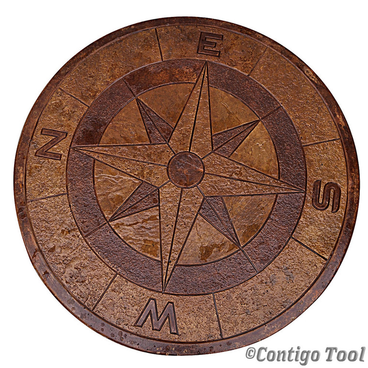 """Compass Rose Table Top Mold 48"""""""