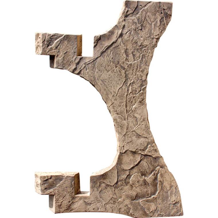 "Set Of 3 Ea. Roman Slate 43"" Bar Height Legs w/ Skin"