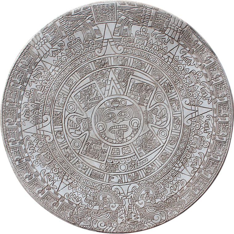 """Aztec Calendar Table Top Mold 48"""""""