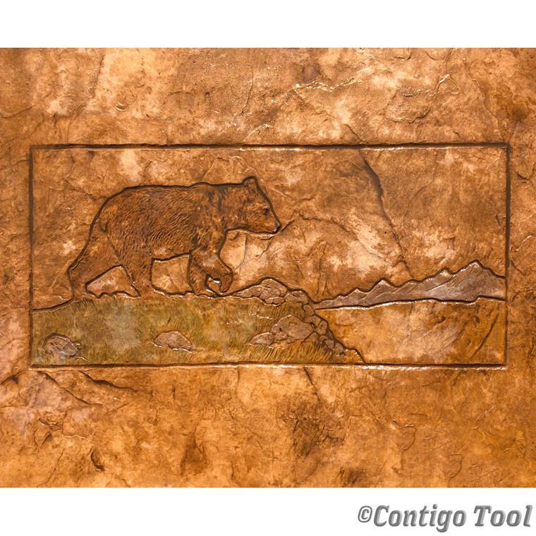Bear Landscape Stamp