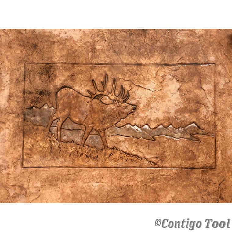 Elk Landscape Stamp