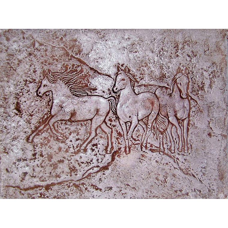 Triple Horse Stamp