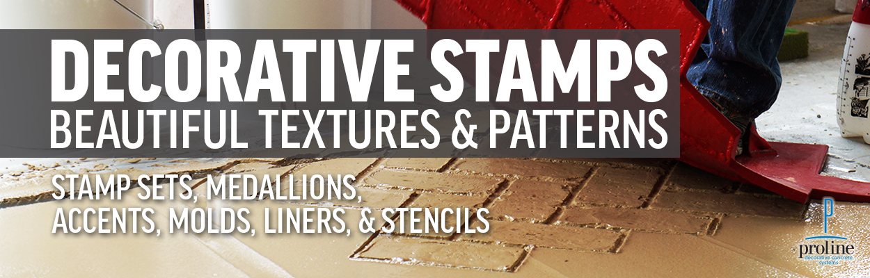 Decorative Stamps, Stamp Sets, Medallions, Accents, Molds, Liners, and Stencils
