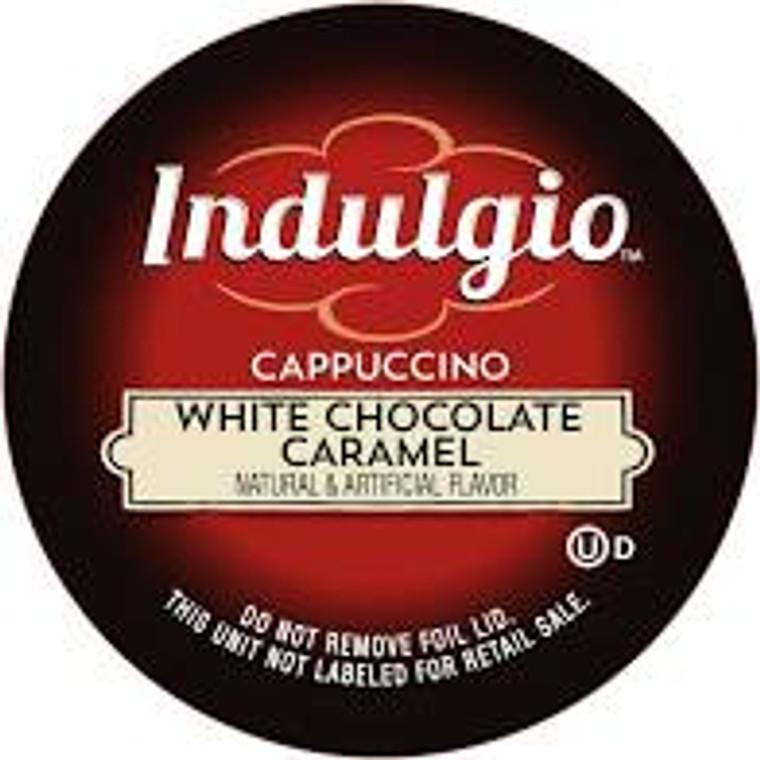 White Chocolate Caramel flavored Cappuccino