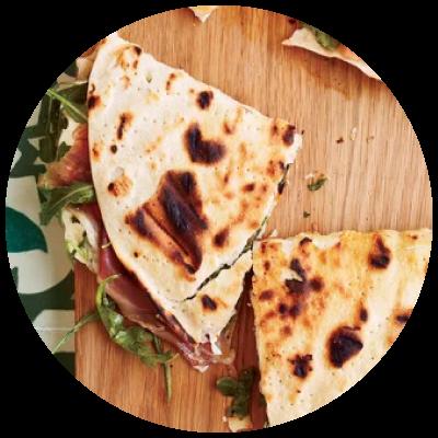 mozzarella-prosciutto-quesadillas