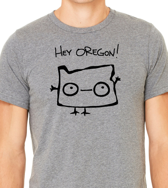 Oregon T Shirt with Oregon waving at all it's fans. Be Good Monster Cute Shirt in all kinds of colors!