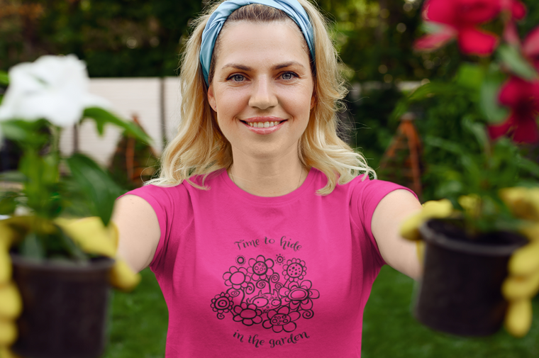 Time To Hide In The Garden - Womens Triblend Tee