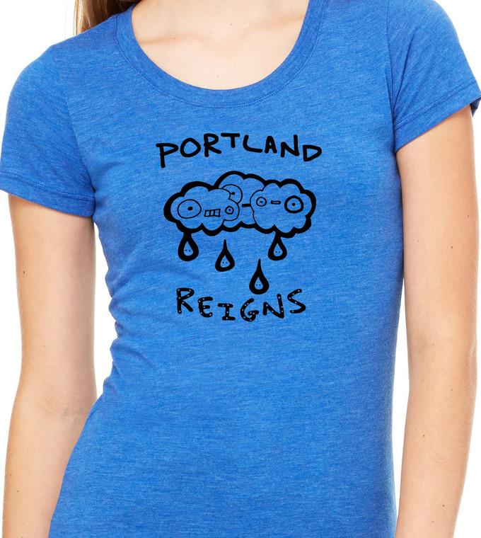 Portland reigns supreme in royal blue tri blend
