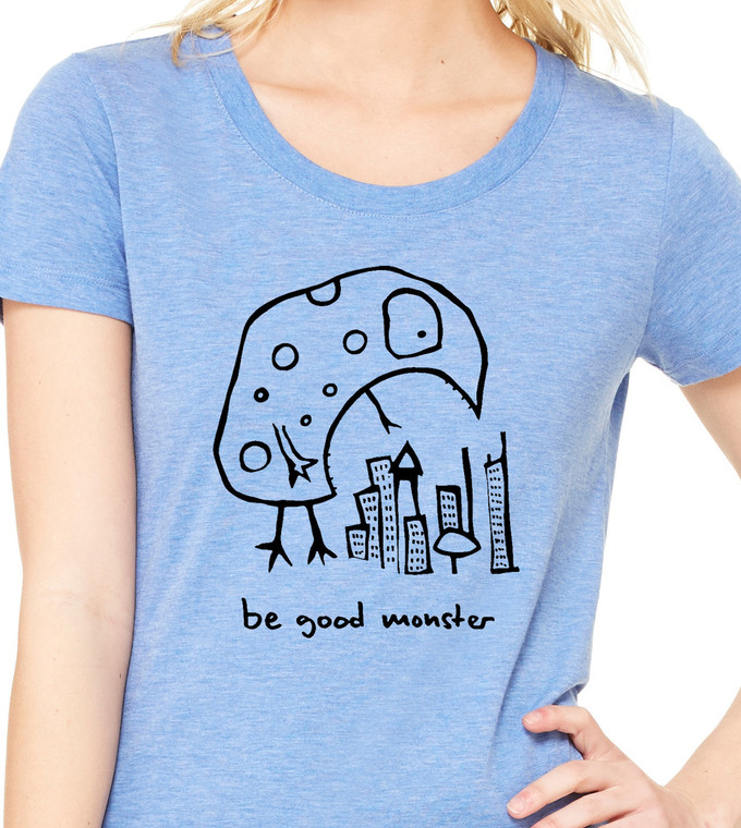 Be Good Monster - Womens Triblend Tee