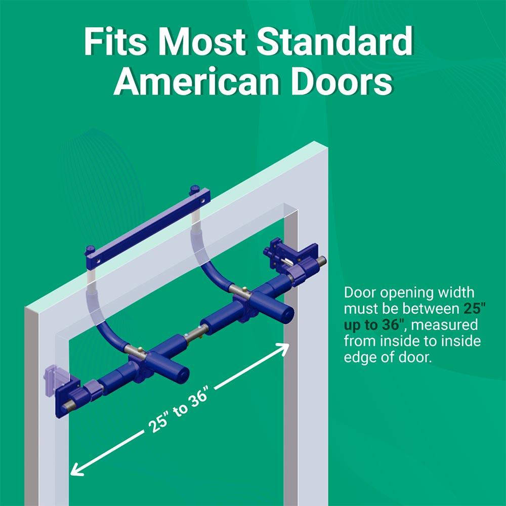 Gym1 Fits Most Standard American Doors