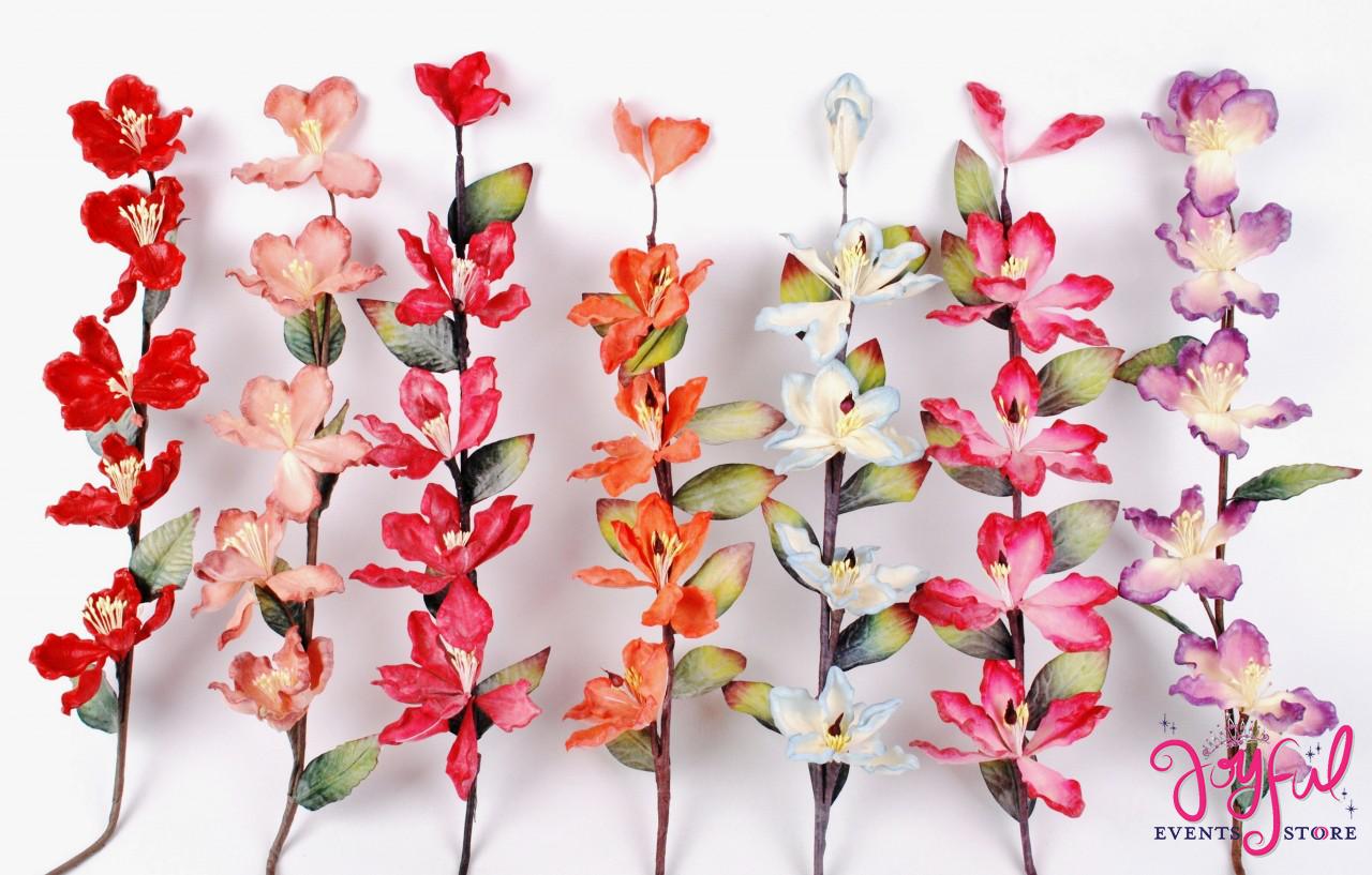 24 Latex Magnolia Flower Stems One Stem Fl8 Joyful Events Store