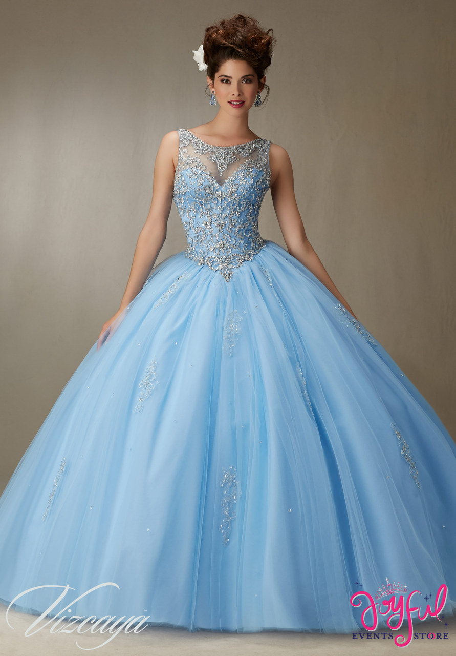 e9ff72c73f8 ... Quinceanera Dress Embroidery And Beading On A Tulle Ball Gown Price ...