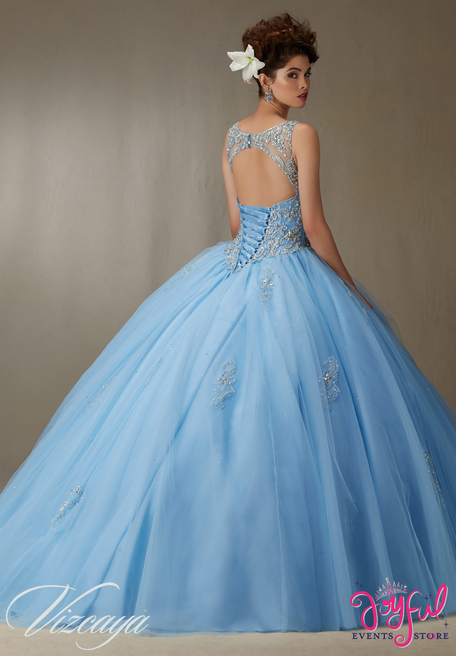 9a758f5ba94 Quinceanera Dress Embroidery And Beading On A Tulle Ball Gown Price ...