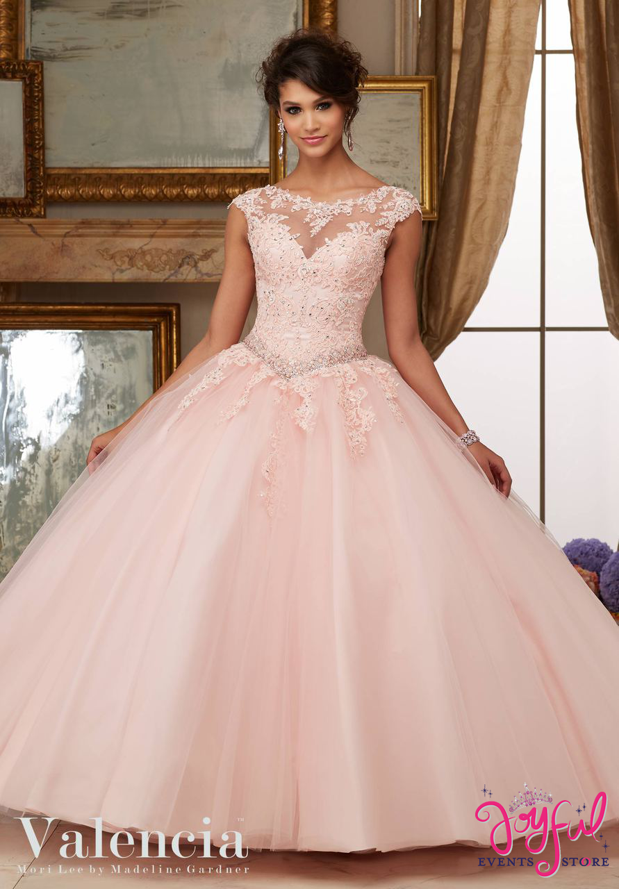 Fashion week Dresses quinceanera pink and white with flowers for woman