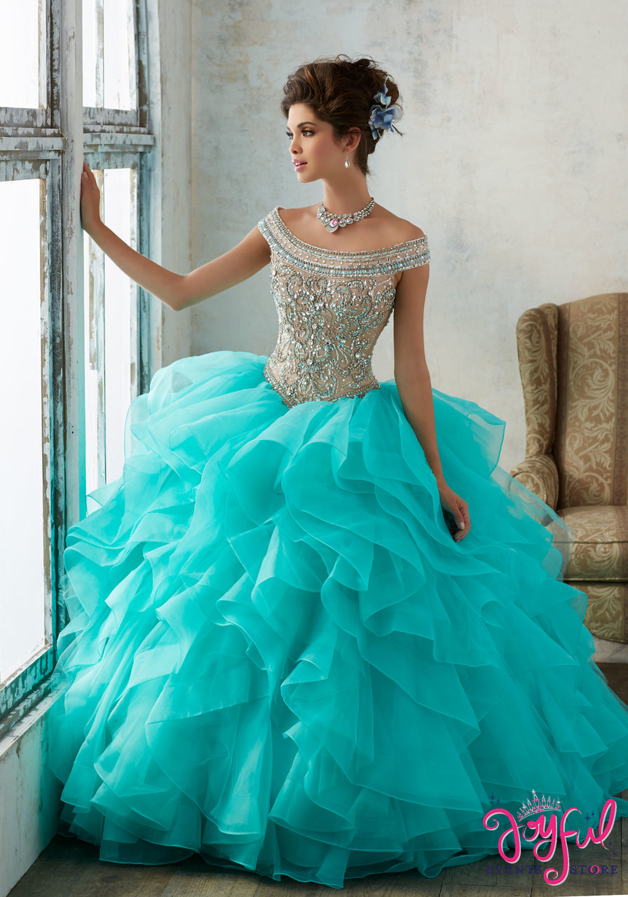 efae2de181d Bell Sleeve Lace Quinceanera Dress by Mori Lee Valencia 60015-Quinceanera  Dresses-ABC Fashion