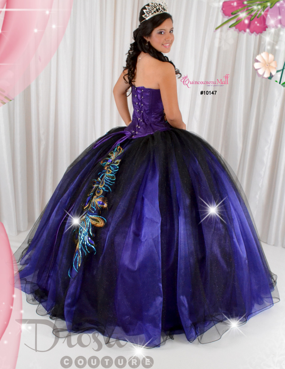 a845a6ae64 Quinceanera Peacock Dress  10147JES - Joyful Events Store