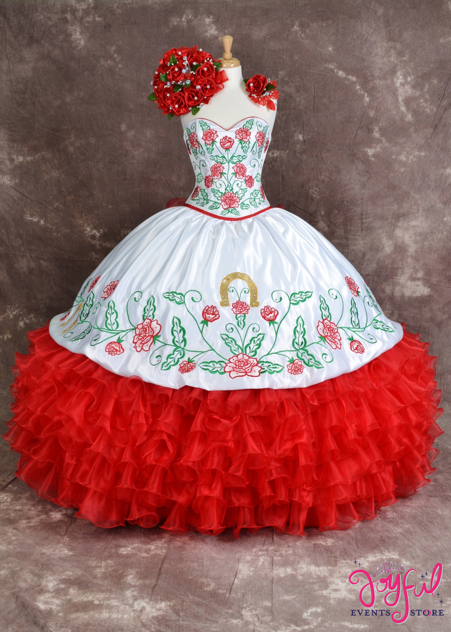 24849c51718 Charra Dress with Red Roses  10165 - Joyful Events Store