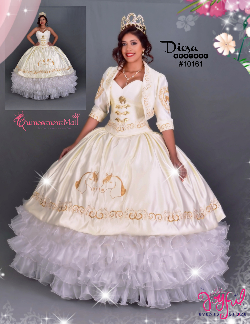 29b2e528b6 Charra Quinceanera Dress  10161GD ...