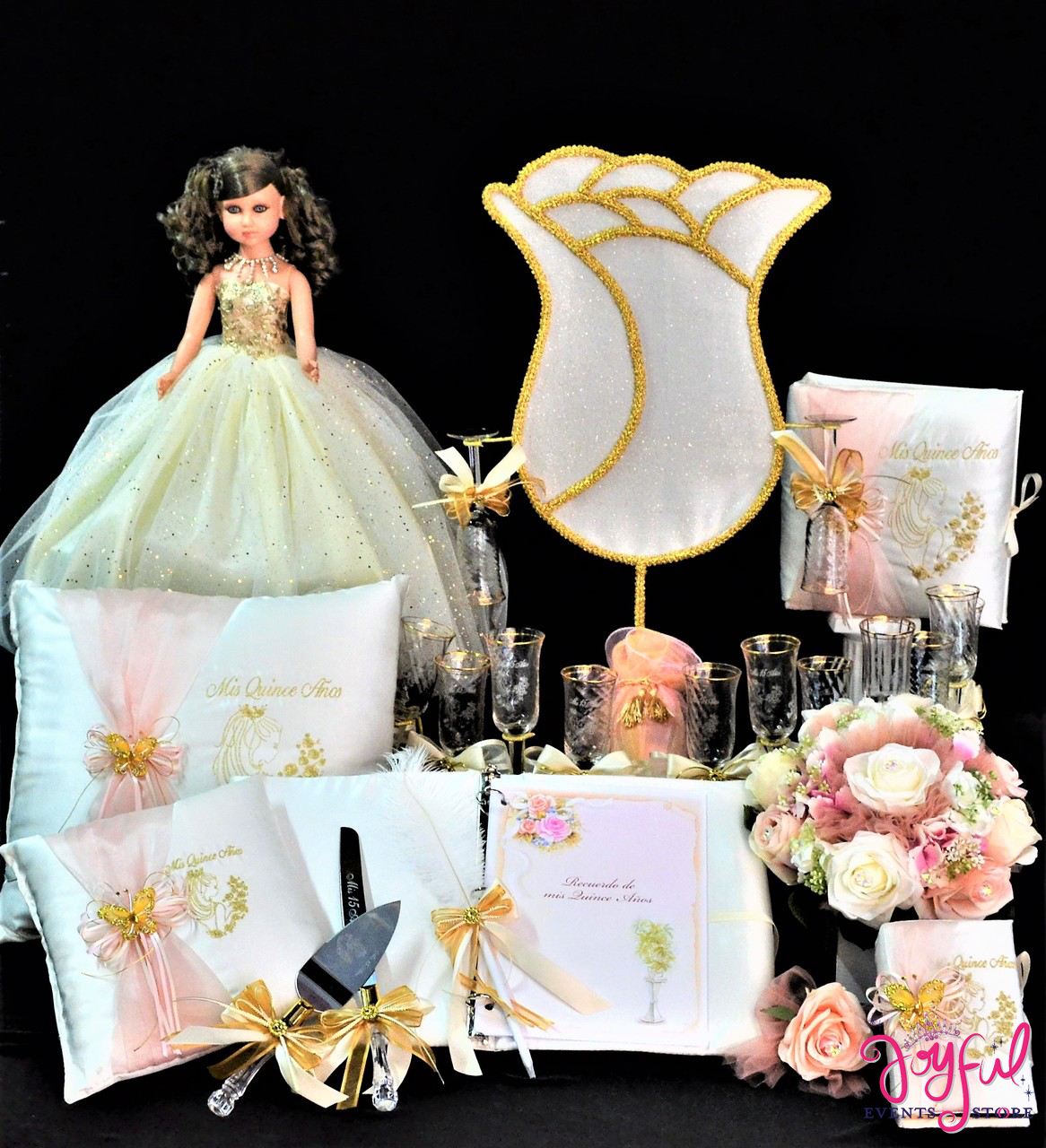 b1a000950bb Rose Accessories Quinceanera Package Toasting Set