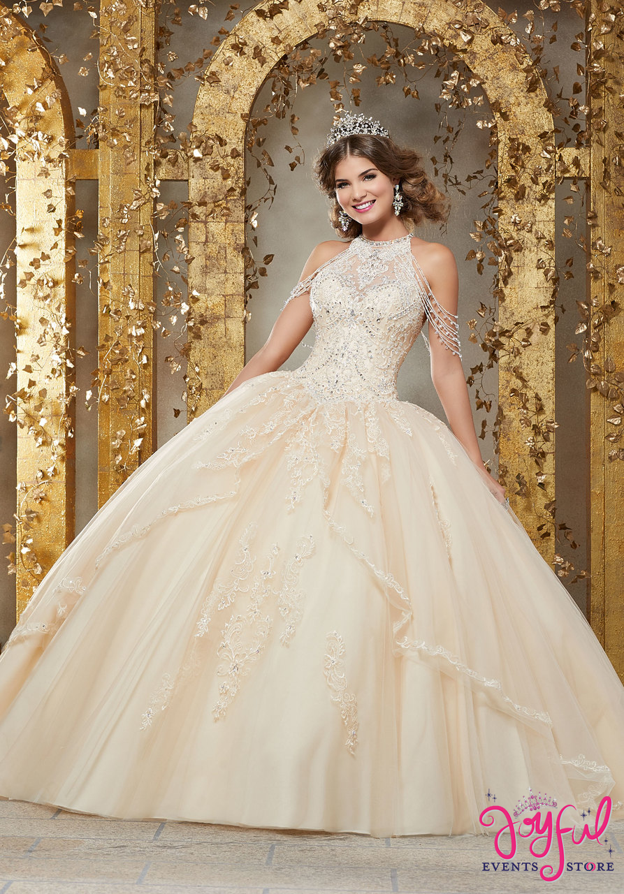 e2d2266facd ... Crystal Beaded Embroidery on a Princess Tulle Ballgown  89227 ...