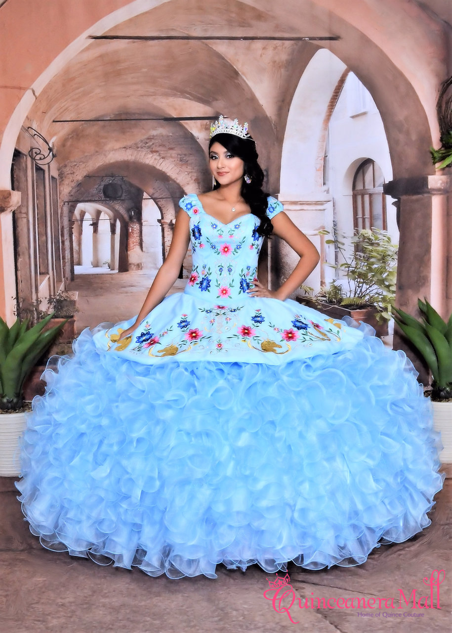 107f3f8c7e Charra and Charro Western Quinceanera Dress with Horses Design