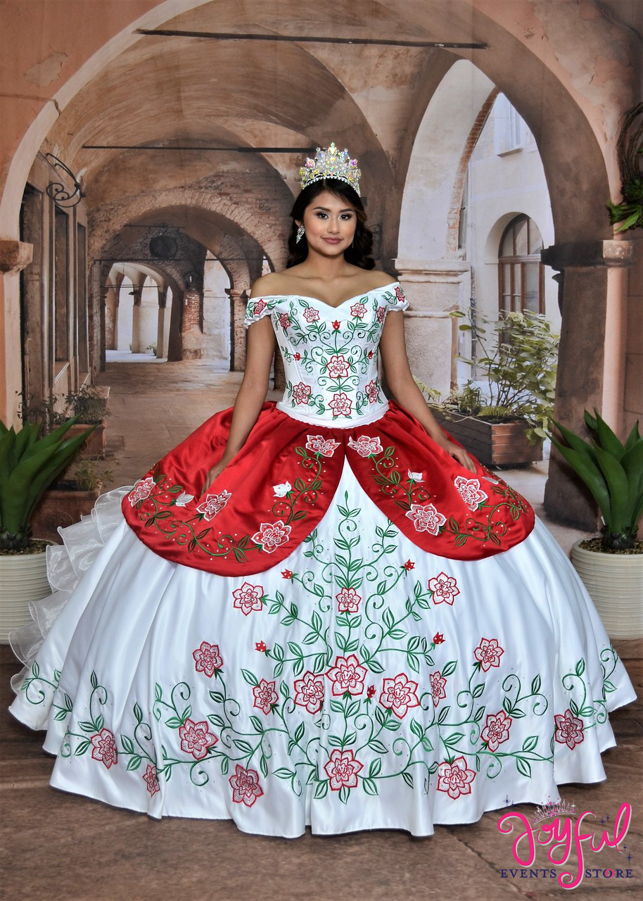 6970bbe5eab Charro Dress with Embroidered Roses  10194 ...