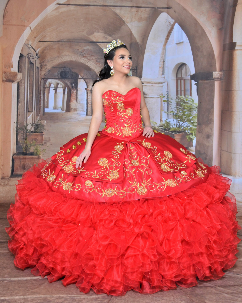 Charro Dress with Train 2020