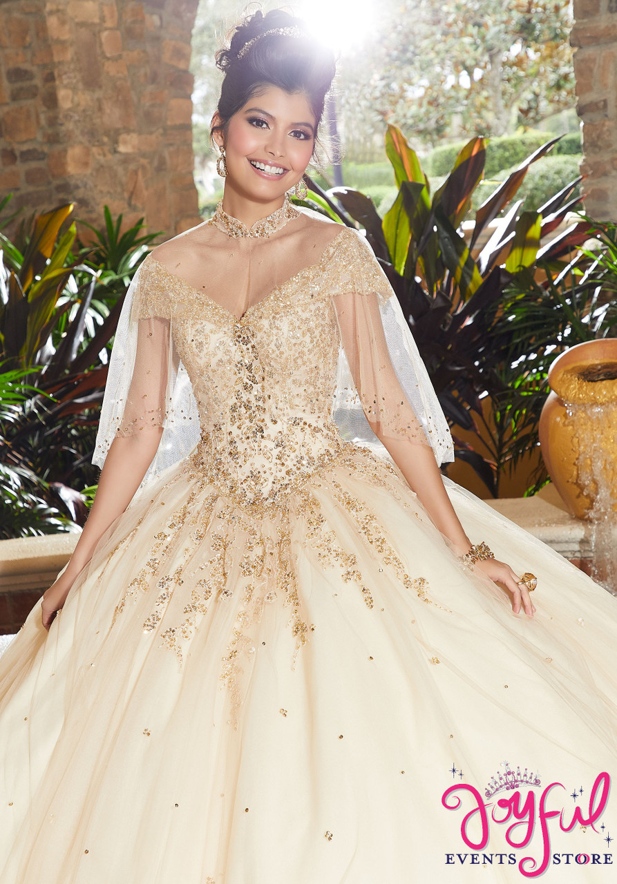 63db570dc70 ... Contrasting Crystal Beaded Embroidery on a Tulle Ballgown  60091 ...