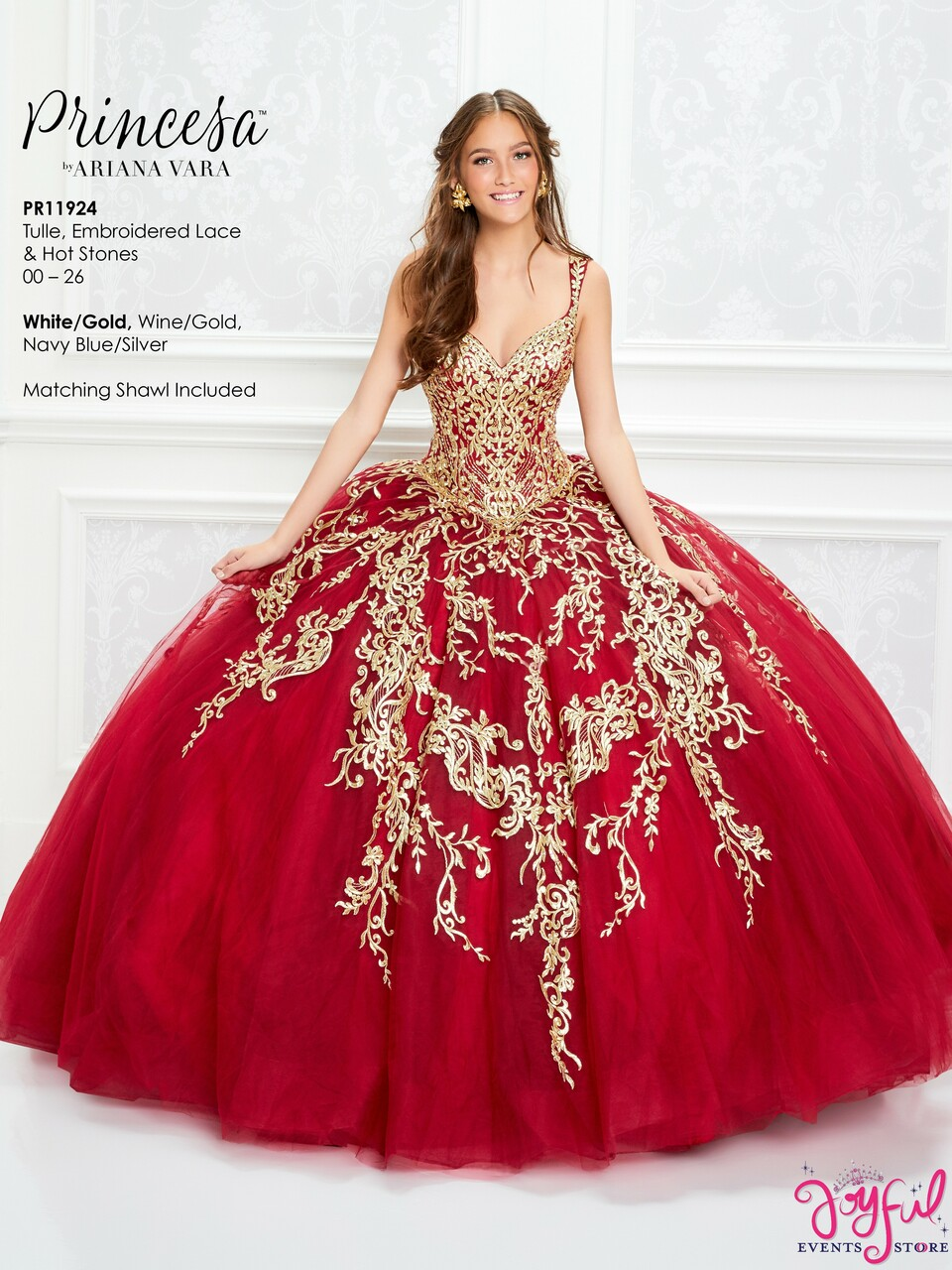 Wine Gold Quinceanera Dress Pr11924wgd
