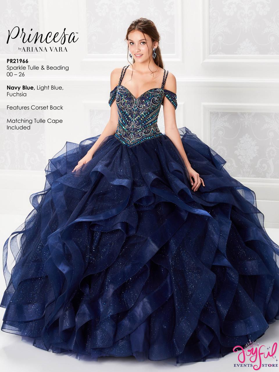 Navy Blue Quinceanera Dress PR21966NV