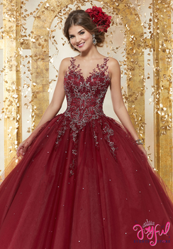 8e032240e7c Rhinestone and Crystal Beaded Embroidery on a Tulle Ballgown  89223
