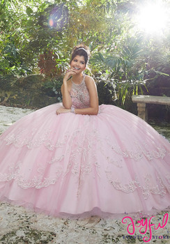 af5bd048eae Rhinestone and Crystal Beading on a Metallic Embroidered Tulle Ballgown   89256