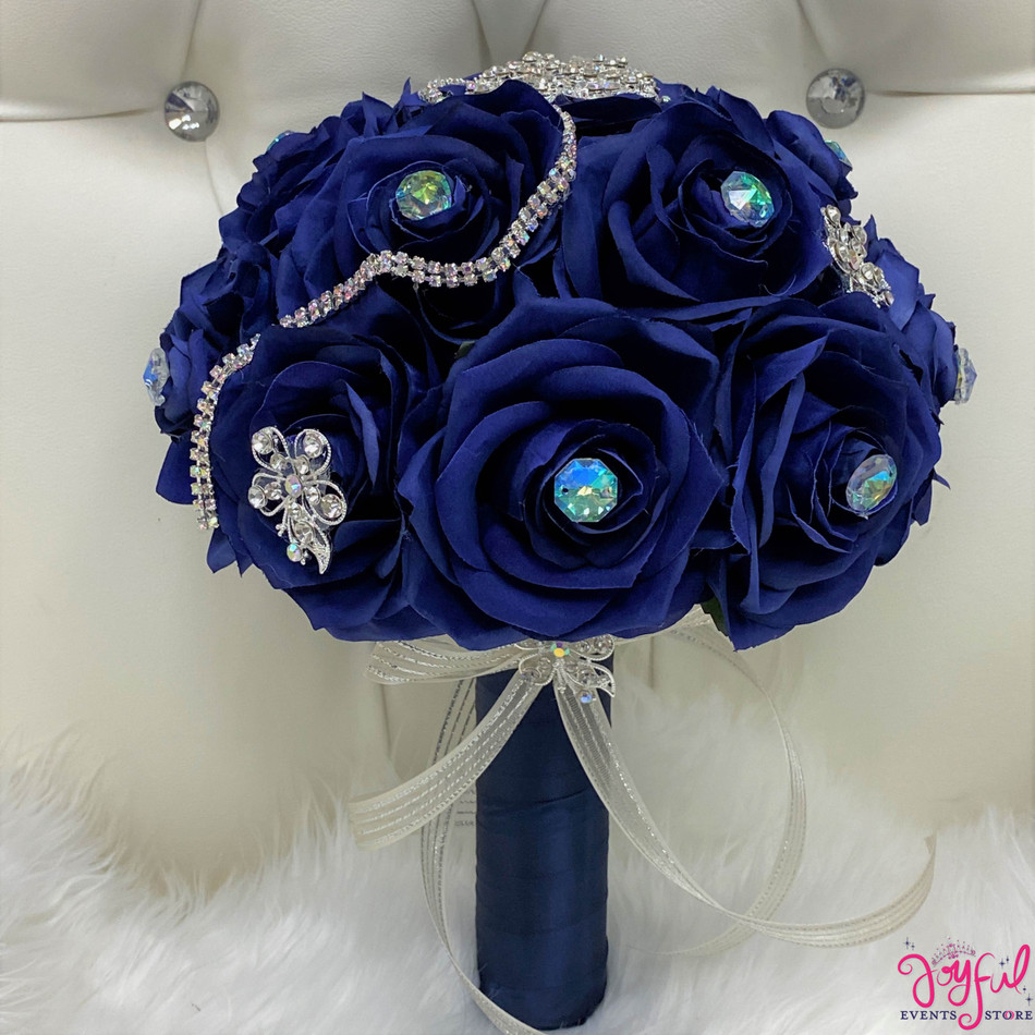 Royal Blue Flower Bouquet #RAC101