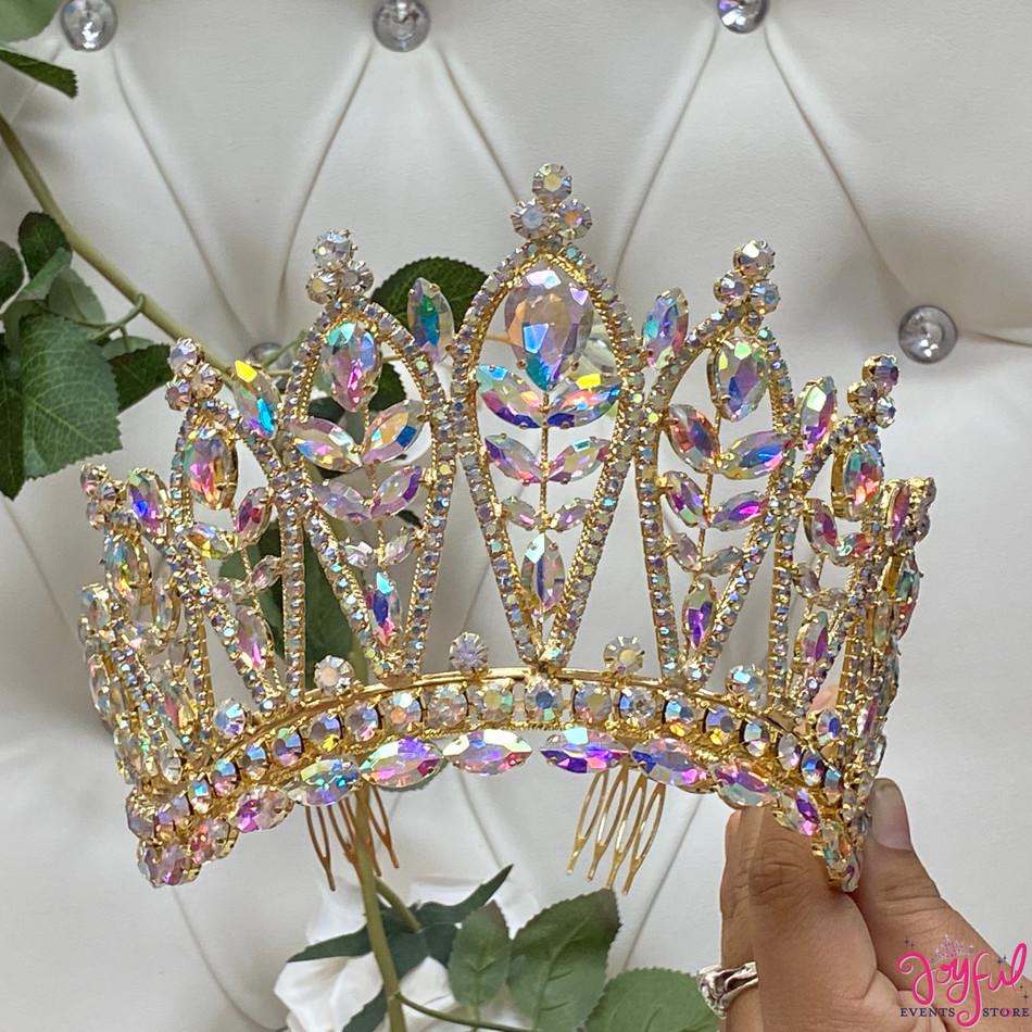 """5"""" Gold Princess Tiara #T186GD"""