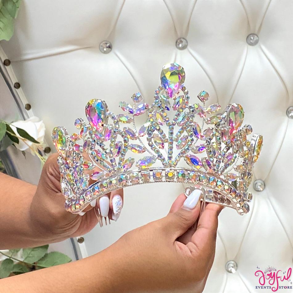 "4"" Silver Princess Tiara #T185SV"