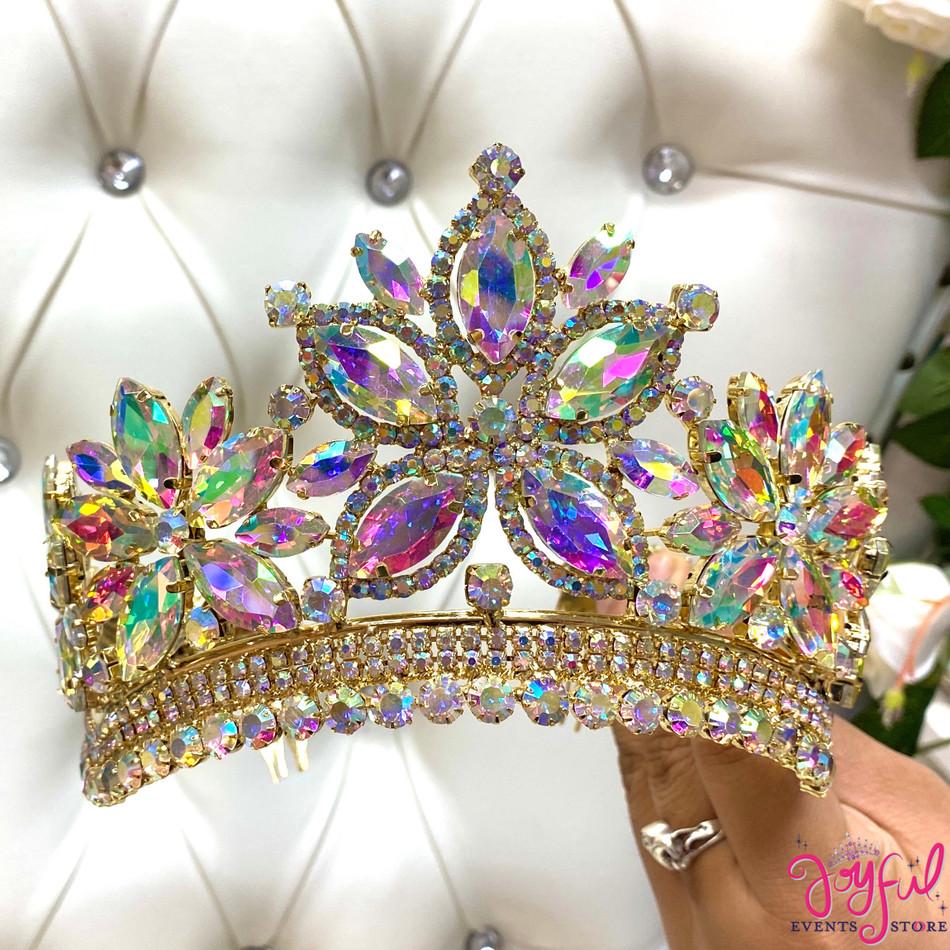 """4"""" Gold Princess Tiara #T183GD"""