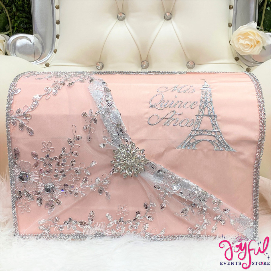 "15"" Paris Soft Coral Money Gift Box #MNYBX50"