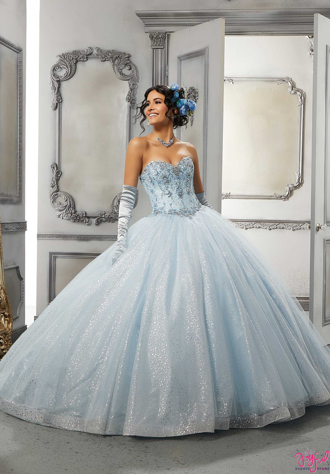 Rhinestone and Crystal Beaded Embroidered#60142