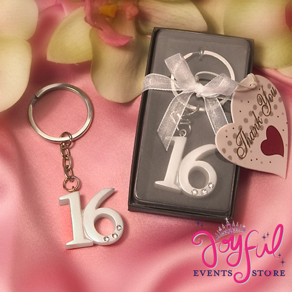 3.75 ' Sweet 16 Key Chains - One #F6410 (Qty. discount available)
