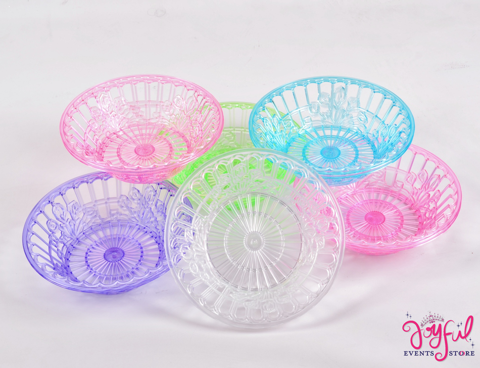 "9"" Plastic Chip Baskets - 12 Pieces #PP9"